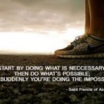 Start with necessary